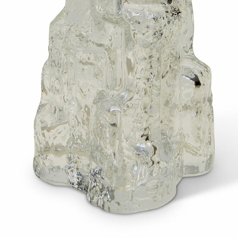 Swedish Pair of Table Lamps in the Form of Rocky Outcroppings in Glass by Reijmyre For Sale
