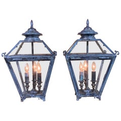 Pair of Table Lamps Lantern