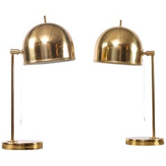 Pair of Table Lamps Model B-075, Bergboms, Sweden, 1960s