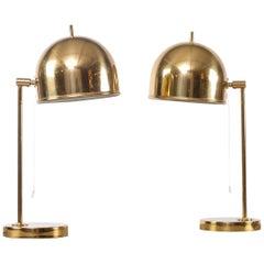 Pair of Table Lamps Model B-075, Bergboms, Sweden, 1960s