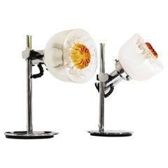 Pair of AV Mazzega Table Lamps Italy 1970s