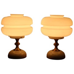 Pair of Table Lamps or Napako, 1970s