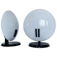 Pair of table lamps Oluce Perla