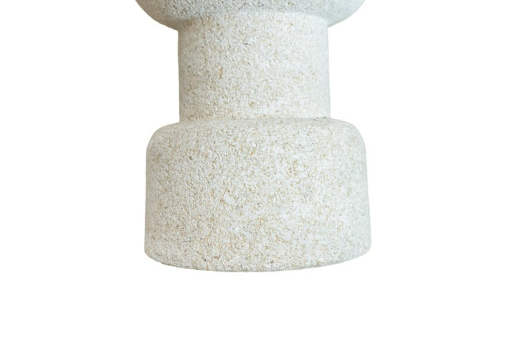Mid-20th Century Pair of Table Lamps, Stone, circa 1950, France For Sale