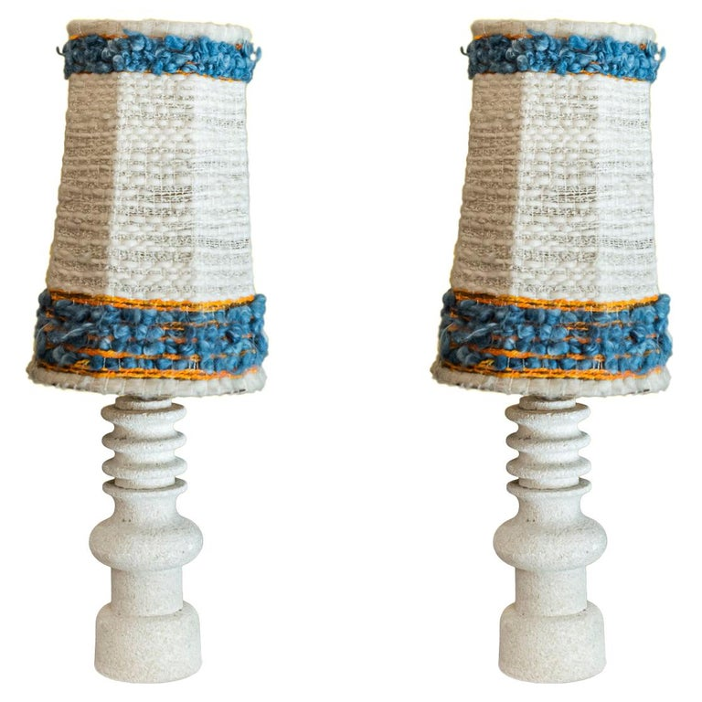 Pair of Table Lamps, Stone, circa 1950, France For Sale