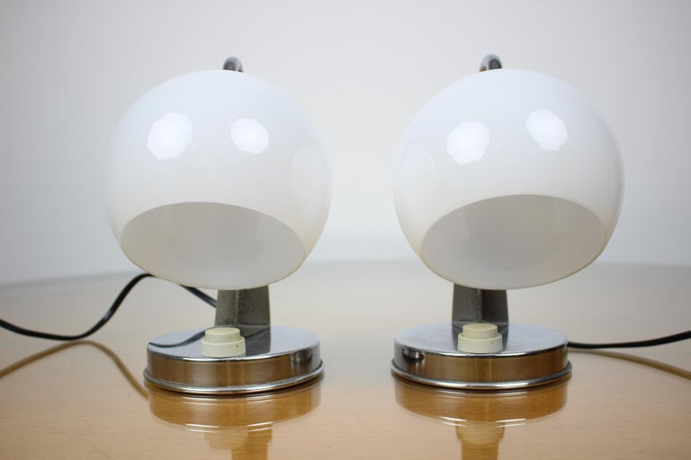 Mid-Century Modern Pair of Table Lamps/Zukov, 1950s For Sale