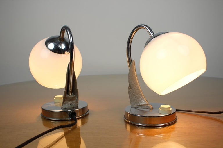 Pair of Table Lamps/Zukov, 1950s In Good Condition For Sale In Praha, CZ