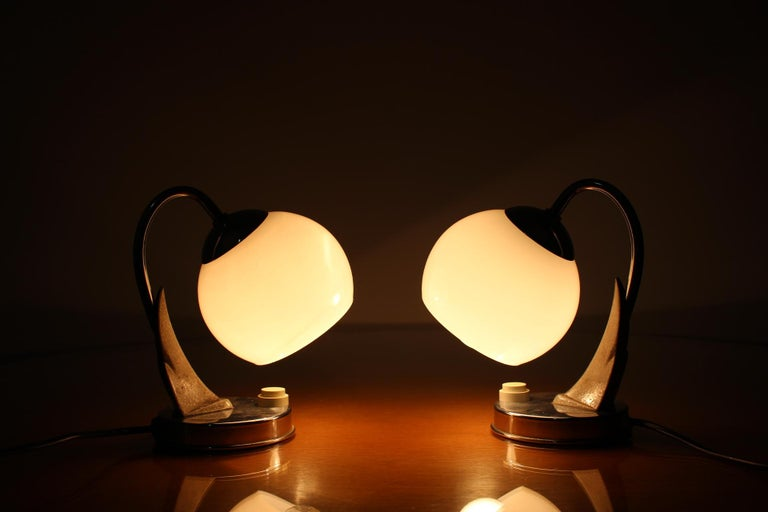 Mid-20th Century Pair of Table Lamps/Zukov, 1950s For Sale