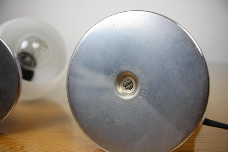 Metal Pair of Table Lamps/Zukov, 1950s For Sale