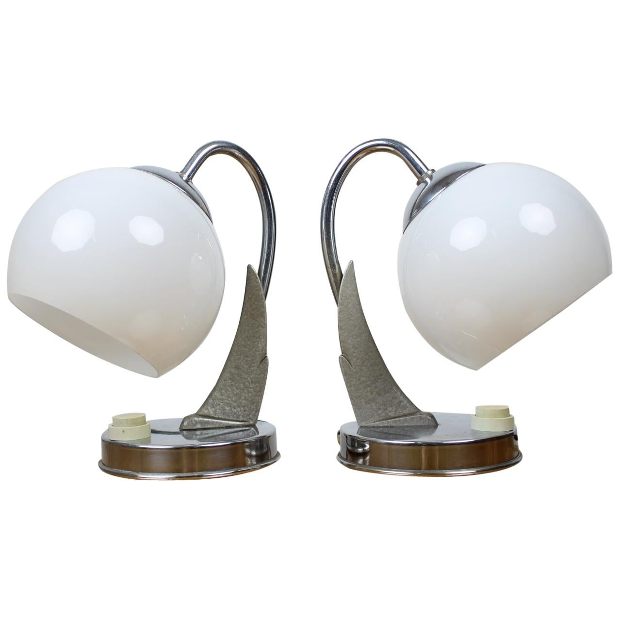 Pair of Table Lamps/Zukov, 1950s