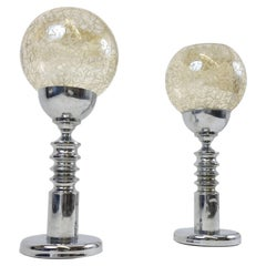 Pair of Table Lamps Attributed to Barovier & Toso, Italy, 1970s