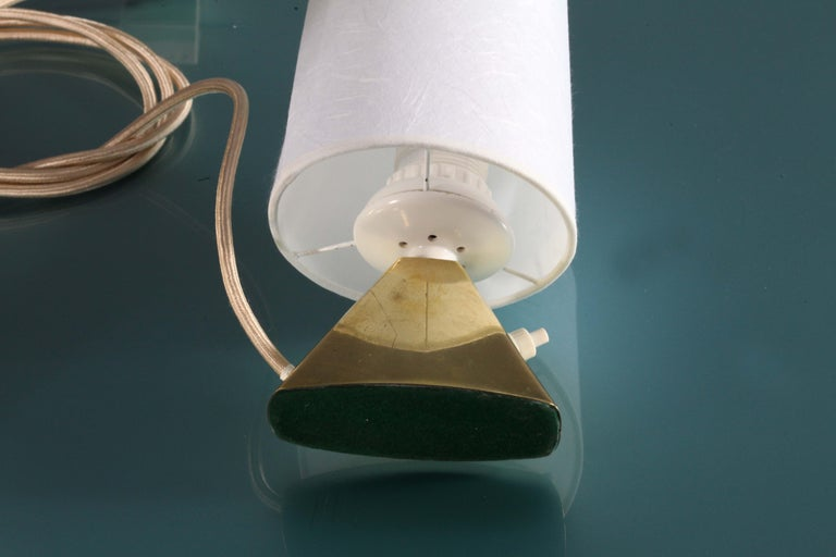 pair of tablelamps by Modernist J.T.Kalmar Vienna 1950 In Good Condition For Sale In Vienna, Vienna
