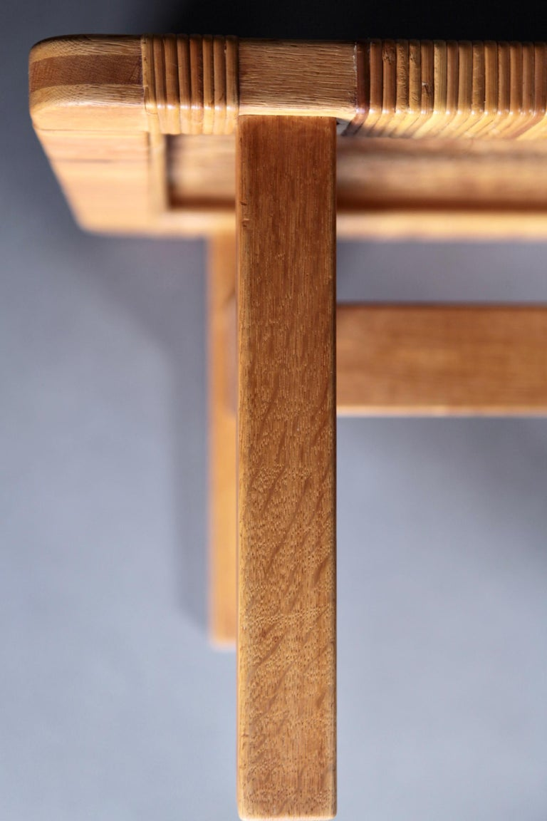 Pair of Tables or Benches in Oak and Cane, Designed by Børge Mogensen, 1950s 5