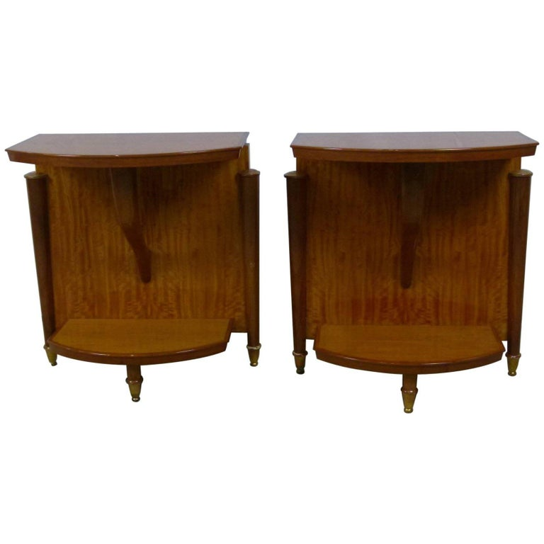 Pair of Tables or End of Sofa, in Ceylon Lemon Tree by Batistin Spade's