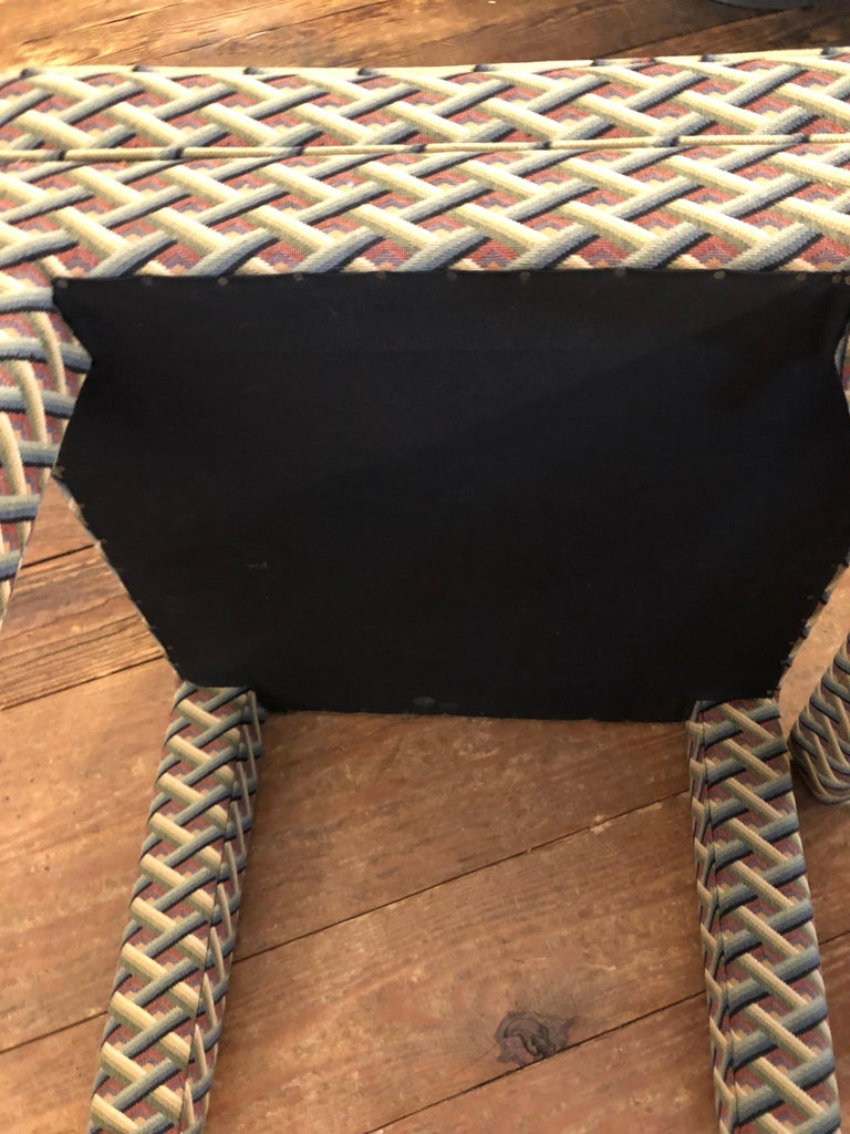 Upholstery Pair of Tailored Parsons Style Upholstered Ottomans Benches