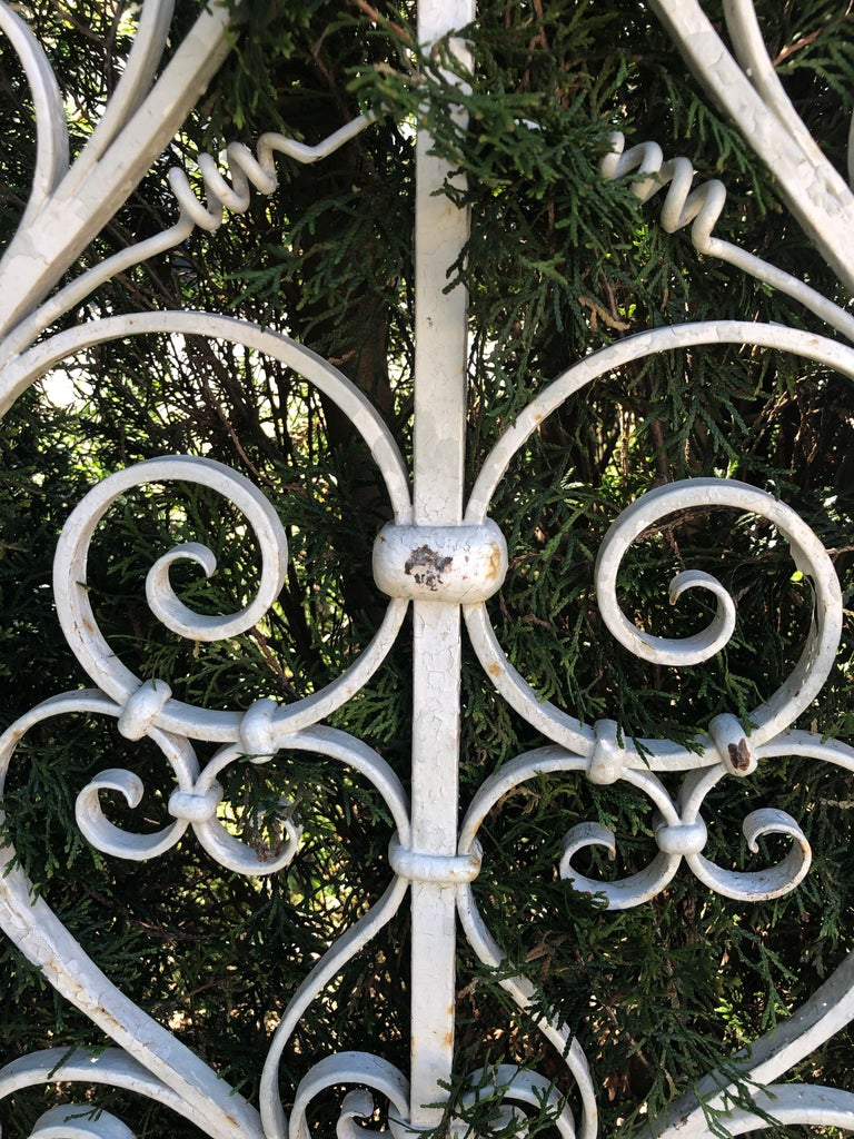 Pair of Tall 19th Century French Wrought Iron Gates For Sale 3
