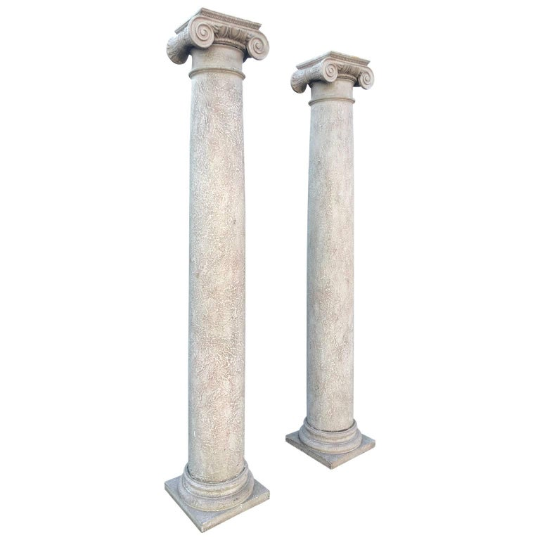 Columns For Sale >> Pair Of Tall Architectural Ionic Order Columns