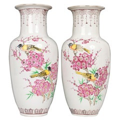 Pair of Tall Chinese Porcelain Vases