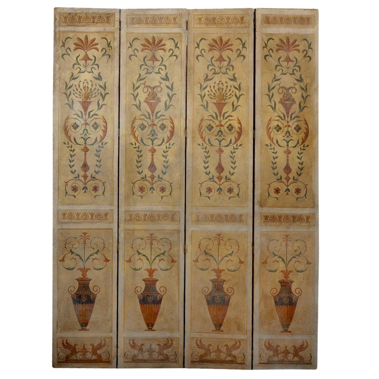 These Are A Wonderful Pair Of Mid 20th Century Tall Four Fold Decorative Neo
