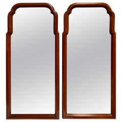 Pair of Tall Henkel Harris Dark Cherrywood Mirrors