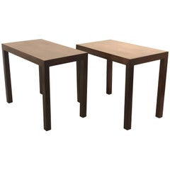 Pair of Tall Parsons Style Dunbar Rectangle Tables Designed by Edward Wormley