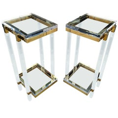 Pair of Tall Side Tables or Pedestals by Charles Hollis Jones