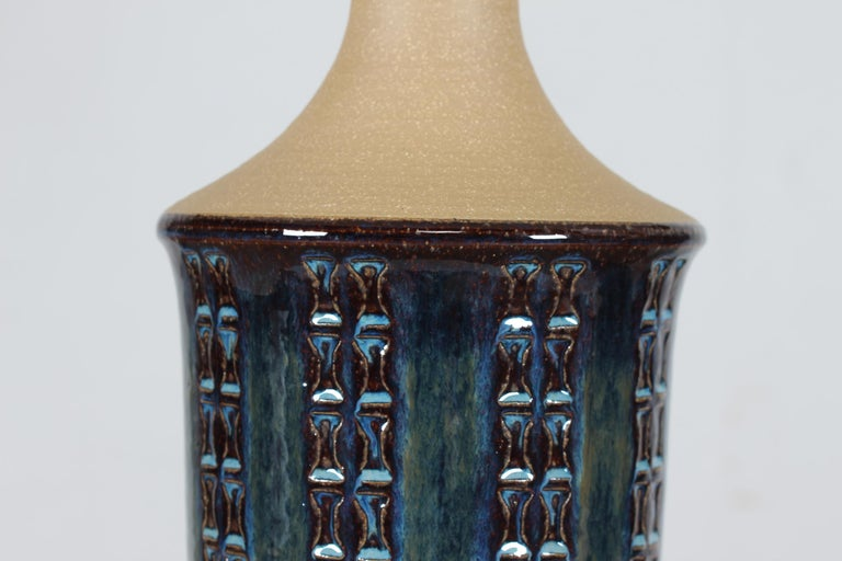 Mid-Century Modern Pair of Tall Stoneware Table Lamps by Maria Philippi for Søholm, Denmark 1960´s For Sale