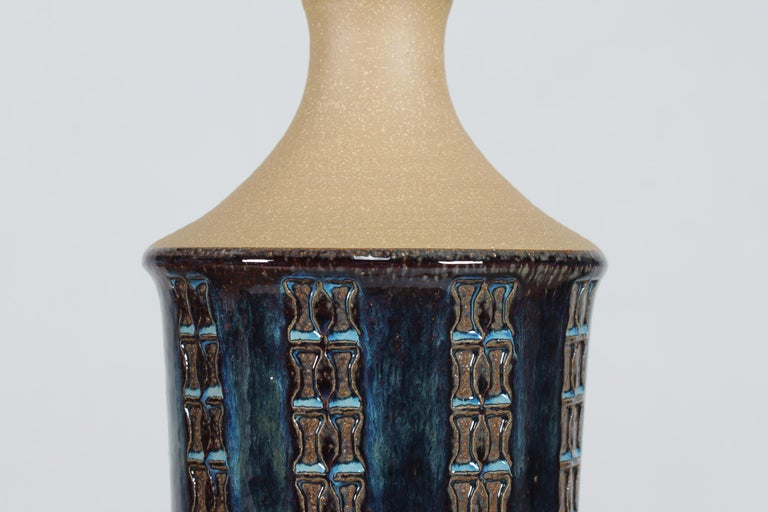 Danish Pair of Tall Stoneware Table Lamps by Maria Philippi for Søholm, Denmark 1960´s For Sale