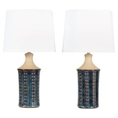 Pair of Tall Stoneware Table Lamps by Maria Philippi for Søholm, Denmark 1960´s