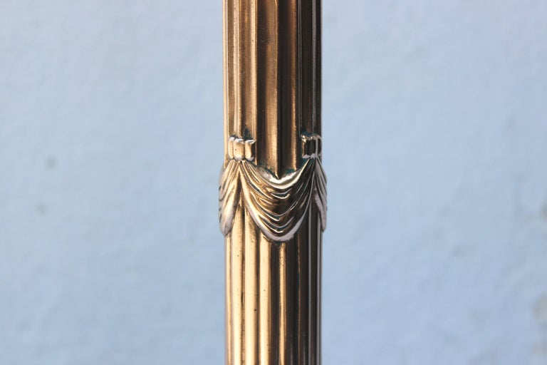 20th Century Pair of Tall Swedish Brass Andirons For Sale