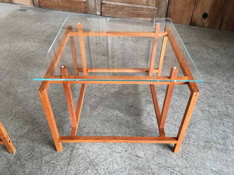 Pair of Teak Architectural Frame End Tables by Henning Norgaard For Sale 2