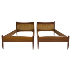 Pair of Teak Bed Frames by Børge Mogensen