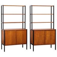 Pair of Teak Bookcases by Bertil Fridhagen for Bodafors, Sweden, 1950s