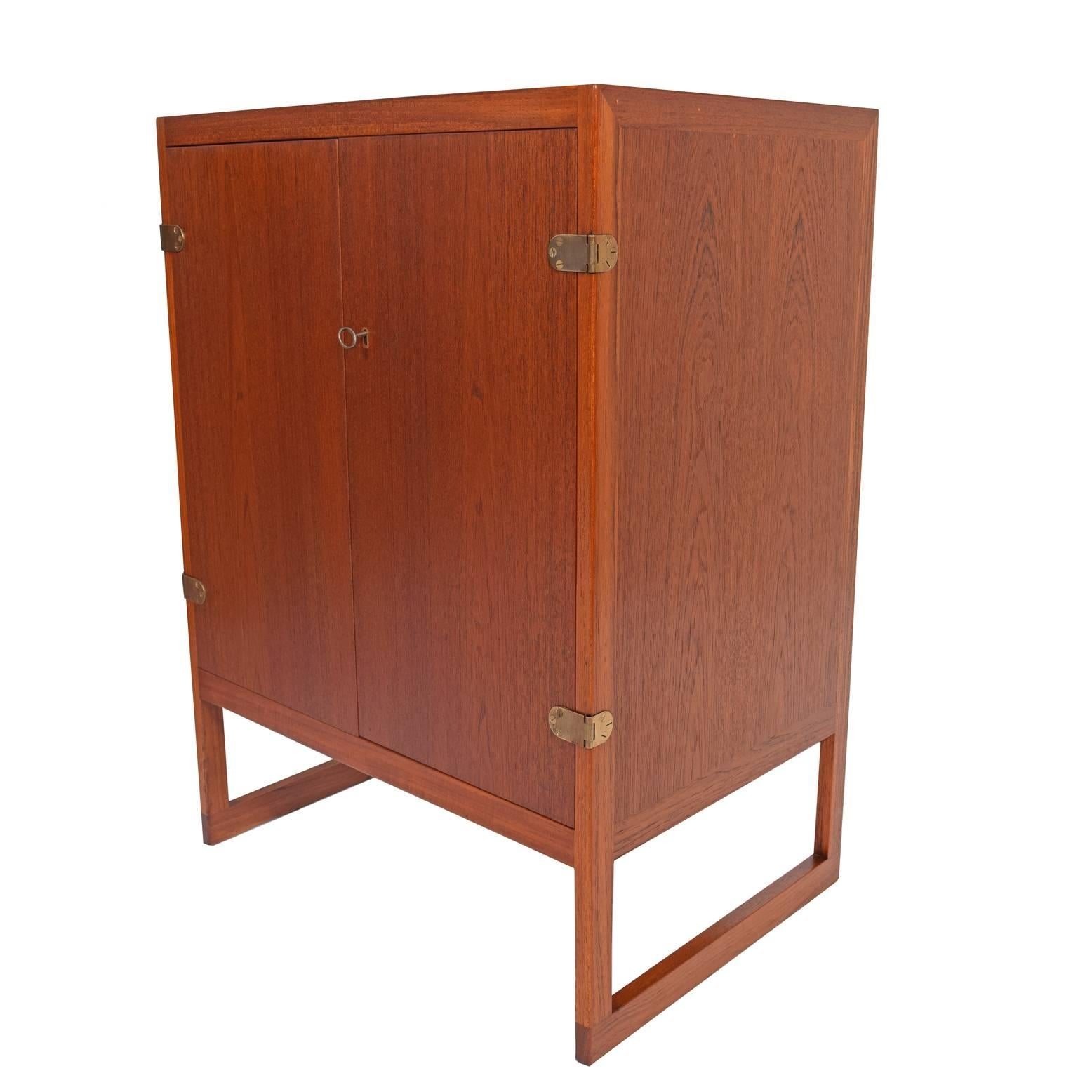 Scandinavian Modern Pair Of Teak Cabinets By Børge Mogensen For P.  Lauritsen U0026 Son,