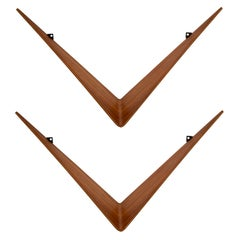 Pair of Teak Cado Butterfly Shelves by Poul Cadovius