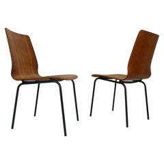 "Pair of Teak Dinning Room Chairs ""Euroika"" by Fristo Kramer for Auping, 1950s"