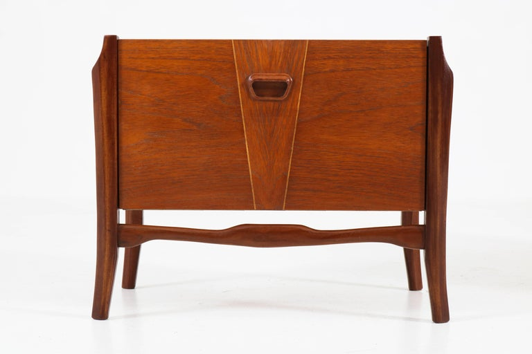 mid century modern bedside table. Pair Of Teak Dutch Mid-Century Modern Bedside Tables Or Nightstands, 1960s For Sale Mid Century Table