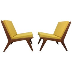 Pair of Teak Easy Chairs from Denmark, circa 1960s