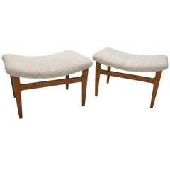 Pair of Teak Footstools by Finn Juhl for France & Søn