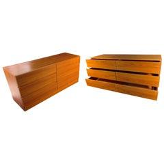 Pair of Teak Mid-Century Modern Dressers