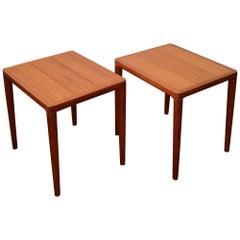Pair of Teak Side Tables by H. W. Klein
