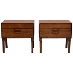 Pair of Teak Side Tables or Nightstands