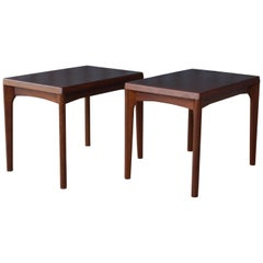 Pair of Teak Tables by Henning Kaerjnulf for Vejle Stole, Denmark, 1960s