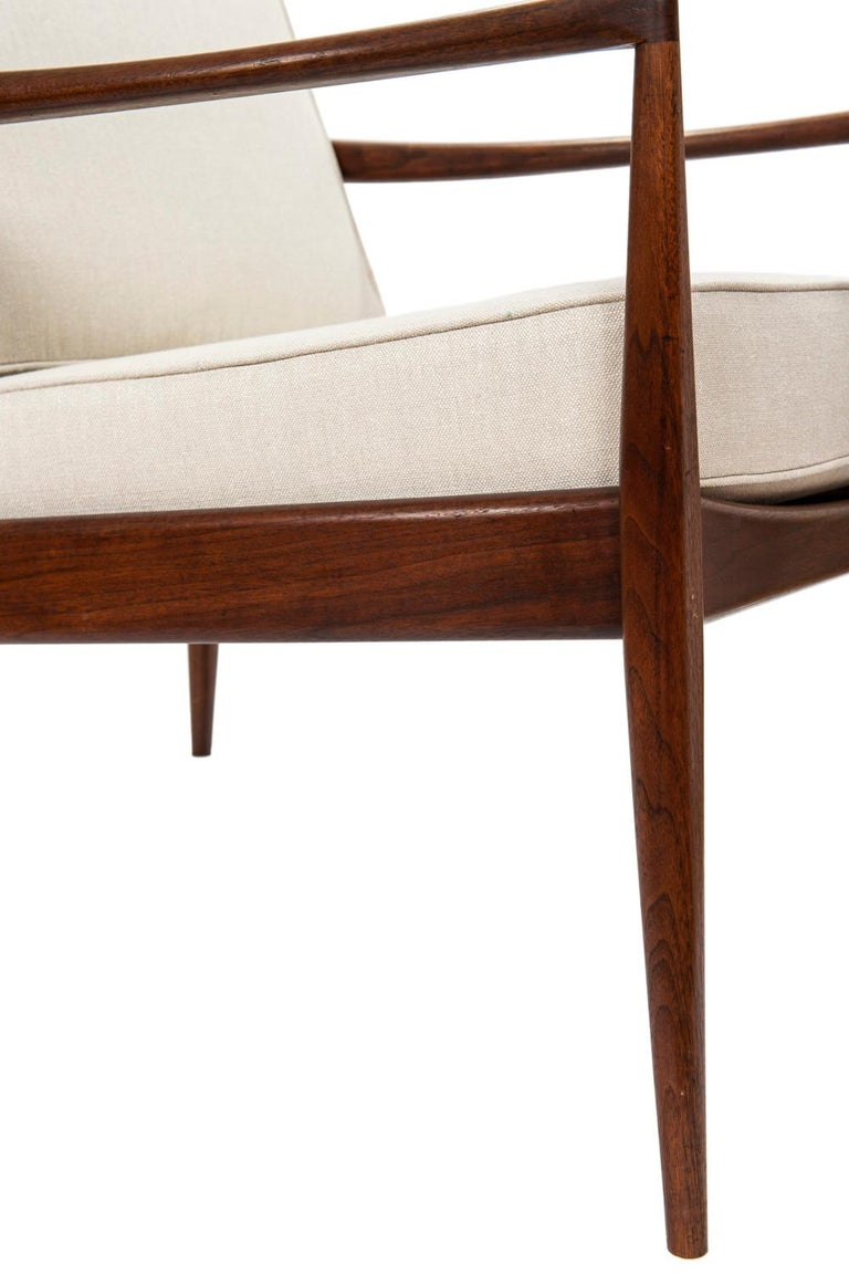 Pair of Teak Upholstered Armchairs Attributed to Ib Kofod-Larsen, circa 1960 In Good Condition For Sale In Toronto, ON