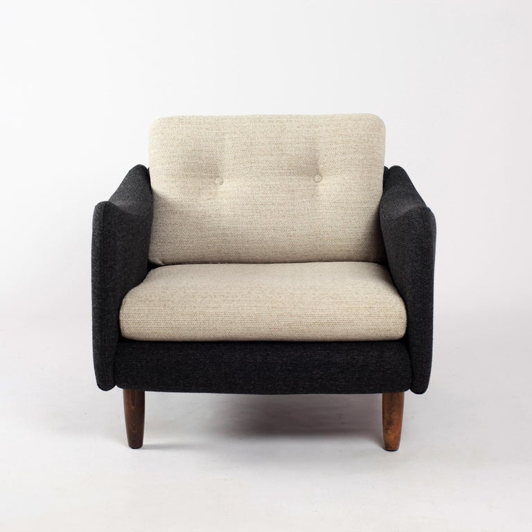 Pair of Teckel Armchairs by Michel Mortier for Steiner, France, 1960s In Good Condition For Sale In Versailles, FR