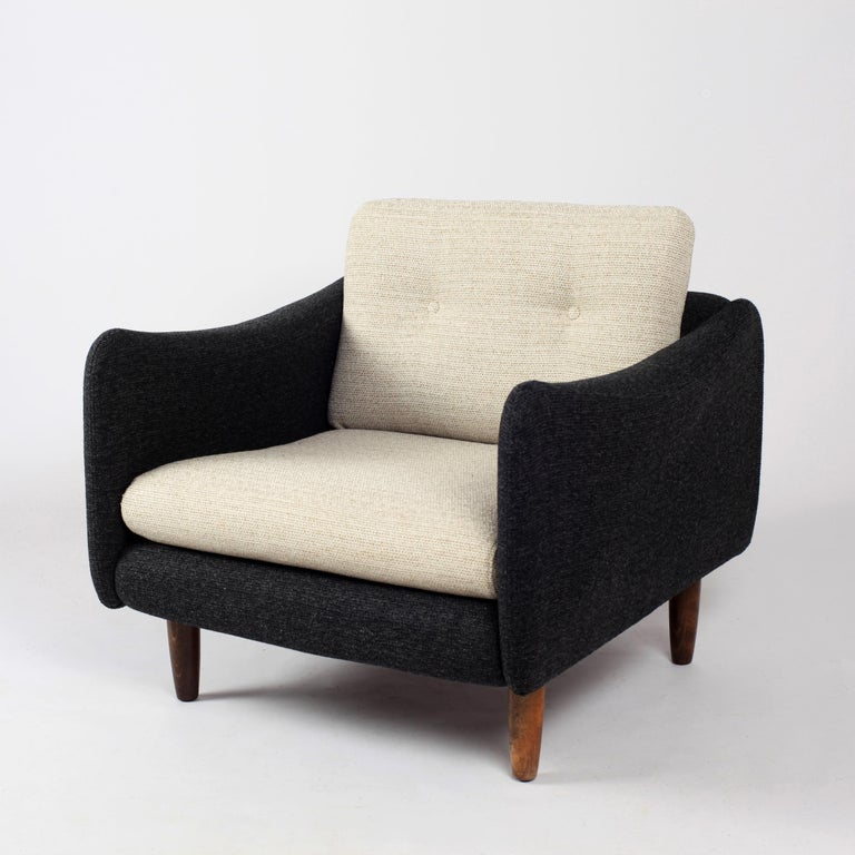 Mid-20th Century Pair of Teckel Armchairs by Michel Mortier for Steiner, France, 1960s For Sale
