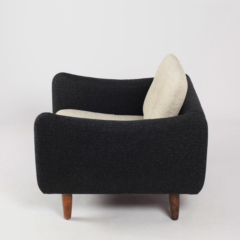 Fabric Pair of Teckel Armchairs by Michel Mortier for Steiner, France, 1960s For Sale