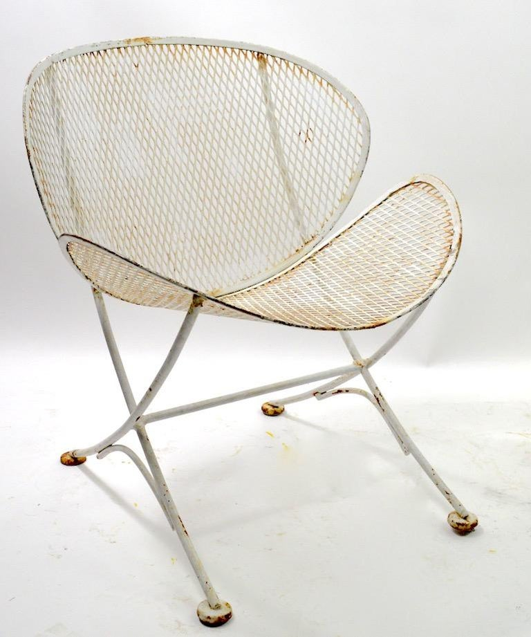 Mid-Century Modern Pair of Tempestini for Salterini Clamshell Lounge Chairs For Sale
