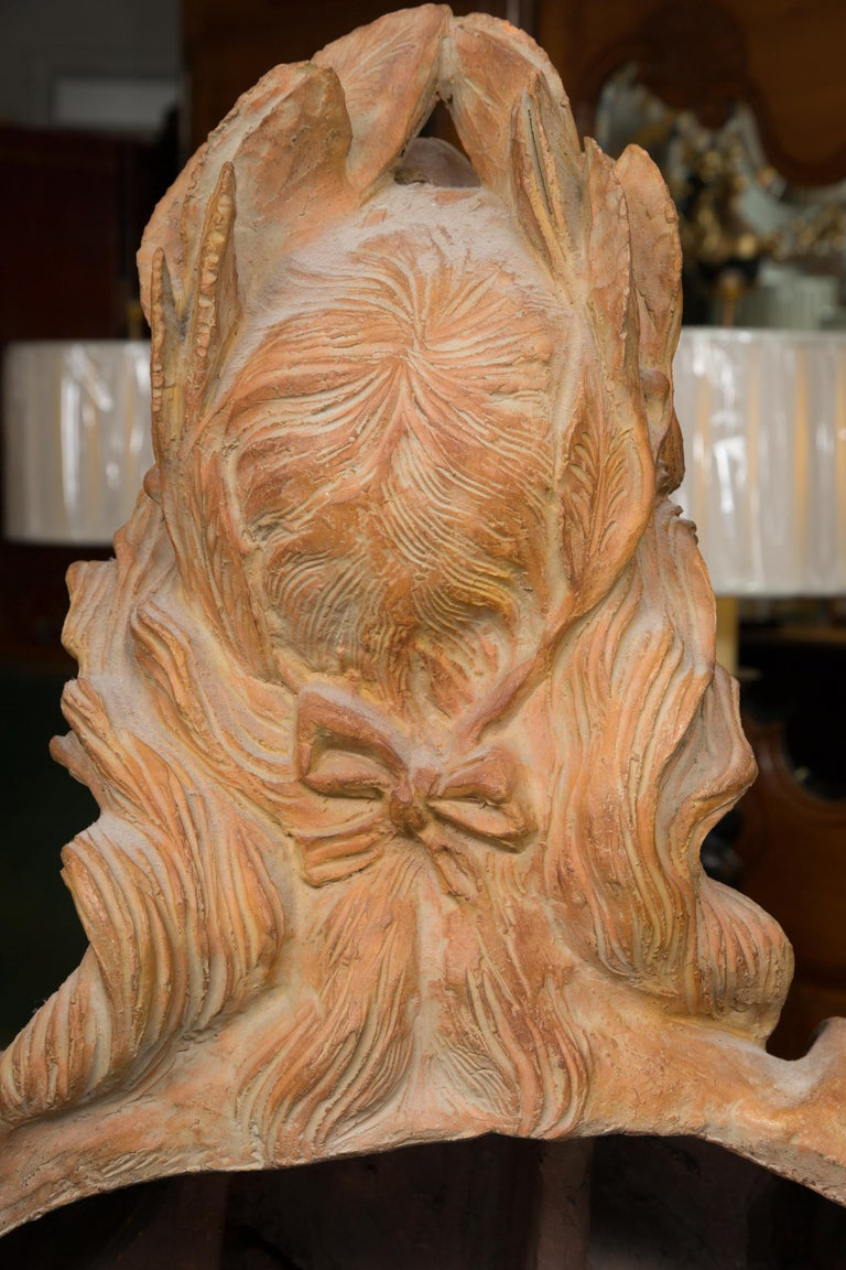 This is an impressive pair of hand formed terra cotta bust of Italian nobility.