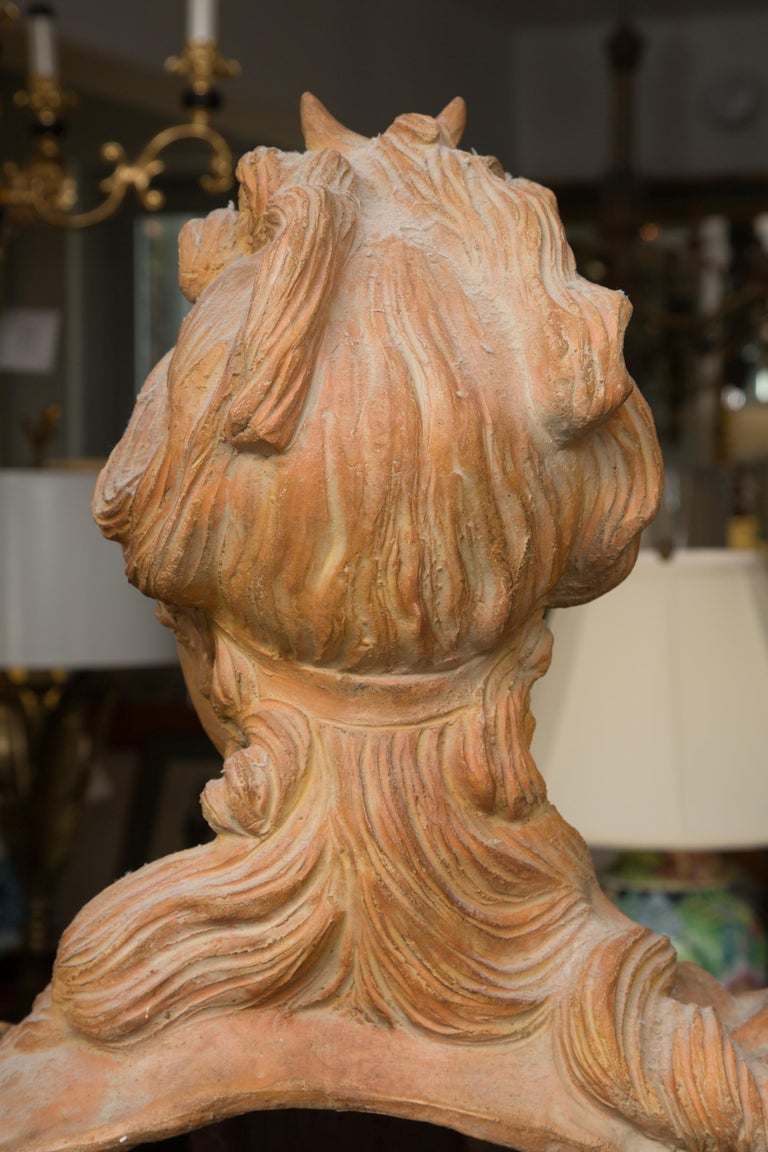 Other Pair of Terra Cotta Italian Nobility For Sale